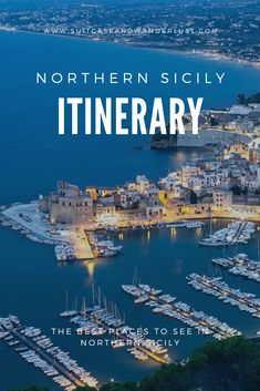 Here's a northern Sicily itinerary covering the highlights of Sicily including Palermo, Erice, Marsala and some other secret spots you should not miss. Italy Travel Tips, New Travel, Travel Europe, Verona Italy, Puglia Italy, Venice Italy, Places To Travel, Places To See, Travel Destinations