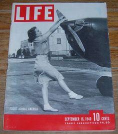 Life Magazine September 16, 1940 Flight Across America on cover