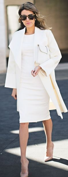 Pop Of Nude On All In White Outfit   NYFW Outfit Idea   Hello Fashion                                                                             Source