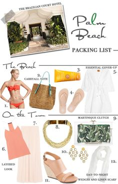 PACKING LIST: PALM BEACH | We go for the Lilly Pulitzer SUMMER 2013 Buy in a couple weeks!