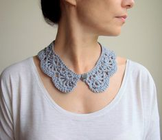 PDF crochet PATTERN Peter Pan collar / cowl / neckwarmer  - DIY tutorial applique - Quick and easy gift