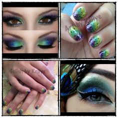 Peacock Nails by Kellye