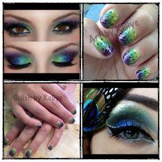 Peacock Nails by Kellye
