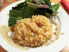 Easy Risotto with Lentils- omit the cheese
