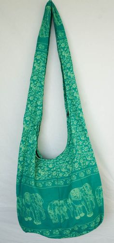 YAAMSTORE mint green elephant hobo bag sling shoulder crossbody hippie boho purse, $11.99