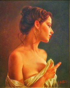 Lucio Amitrano   pintor italiano   Pinturas da mulher