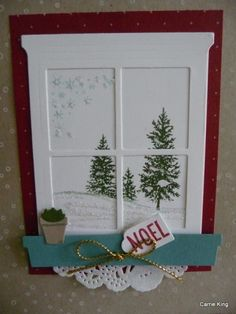 Stampin' Up! Hearth & Home thinlit, window card case