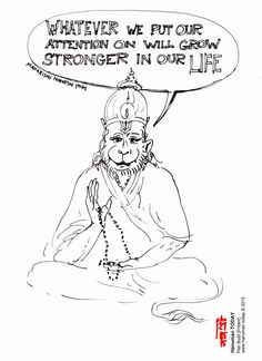 Wednesday, May 27, 2015 Daily drawings of Hanuman / Hanuman TODAY / Connecting with Hanuman through art / Artwork by Petr Budil [Pritam] www.hanuman.today