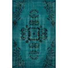 Rugs USA Alden Overdyed 5' X 8' Turquoise Area Rug