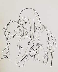 """charu-san: """"Haru Ga Kita""""I imagined Hinata and a young Bolt singing a children's song.In here, the're singing """"Spring is Coming"""" as Hinata is dressing Bolt up for some sort of ceremony/festival.Here's what the song sounds like:Haru Ga Kita Anime Naruto, Naruto E Boruto, Naruto Fan Art, Kakashi Sensei, Naruto Comic, Naruto Cute, Naruto Funny, Hinata Hyuga, Gaara"""