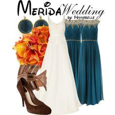 Merida - Wedding by Disney Theme, Cute Disney, Disney Style, Disney Inspired Wedding, Disney Inspired Fashion, Disney Dresses, Disney Outfits, Wedding Art, Dream Wedding