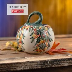 Small Pumpkins, Painted Pumpkins, Handmade Home Decor, Handmade Gifts, Polish Pottery, Pottery Making, Ceramic Painting, Fall Crafts, Handcrafted Jewelry