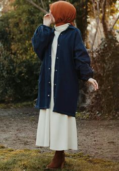 Casual Hijab Outfit, Casual Outfits, Modest Outfits, Modest Fashion, Fashion 101, Daily Fashion, Fashion Outfits, Muslim Women Fashion, Hijab Fashionista