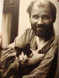 Gustav Klimt with a Cat