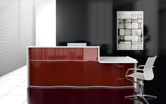 Let your office's contemporary reception desk effortlessly communicate the value. - Let your office's contemporary reception desk effortlessly communicate the values of your company - Curved Reception Desk, Reception Desk Design, Reception Counter, Office Reception, Reception Furniture, Autocad, Modular Office, Contemporary Office, Simple Elegance