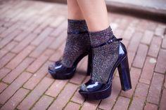 Socks & heels #shoes