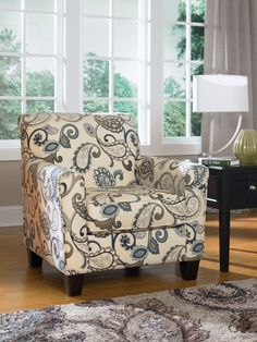 Yvette Steel Accent Chair Living Room