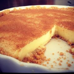 South African Milk Tart SO easy to make and scrumptious!