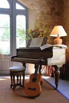 """In my imaginary house, I would play the piano and the guitar...and I would be a """"great proficient."""" :p"""
