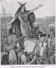 Queen Boudicca inciting the Britons to Revolt, illustration from 'The Story of the British People'