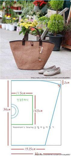 Elegante y fácil. Las bolsas con patrón.
