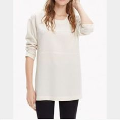 Madewell Top Cream Madewell top with side zippers. This is the Trackside Zip Top. Worn one time-EUC. Madewell Tops