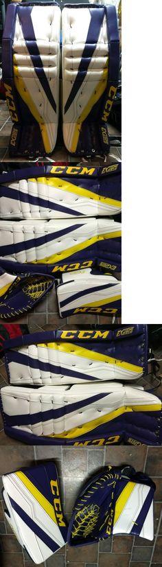 Leg Pads 79764: New Bauer Reactor 6000 Wht-Red 33+ 1 Sr Goalie Pads