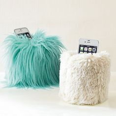 LOL MAYBE I SHOULD Fur Beanbag Cell Phone Holder | PBteen