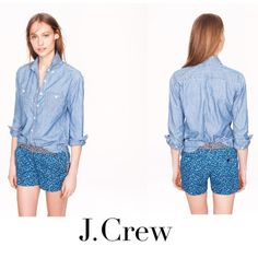 New J crew floral chino J crew floral chino size 0 new without tags no damages never worn $60 J. Crew Shorts