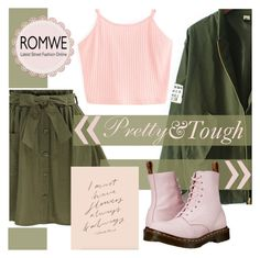 """Romwe Skirt"" by mrs-rc ❤ liked on Polyvore featuring Dr. Martens"