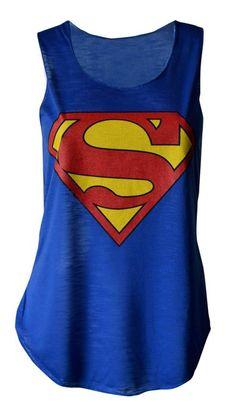 Womens Pow Super Hero Comic Funny Slogan Vest Tank Top NEW UK 8-18