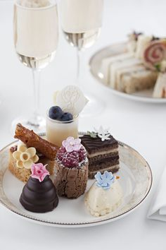 Chelsea flower show inspired Afternoon Tea at Park Terrace