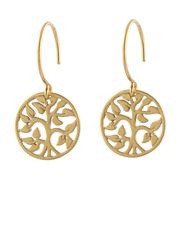 "Tree of Life Earrings by Peggy Li Creations. Gold plate or sterling silver. Seen on ""A Gift of Miracles"" starring Rachel Boston."
