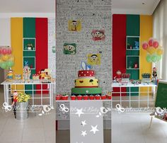 Festa Turma da Mônica | Flickr – Compartilhamento de fotos! Baby Birthday, Birthday Parties, Class Decoration, Cute Cakes, Tinkerbell, Party Time, Kids Rugs, Toys, Holiday Decor