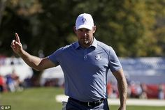 Lee Westwood is fighting back in the singles  Read more: http://www.dailymail.co.uk/sport/golf/article-3817746/Ryder-Cup-2016-LIVE-team-scores-golf-results-Team-USA-vs-Team-Europe.html#ixzz4M0Kq9jZM  Follow us: @MailOnline on Twitter | DailyMail on Facebook
