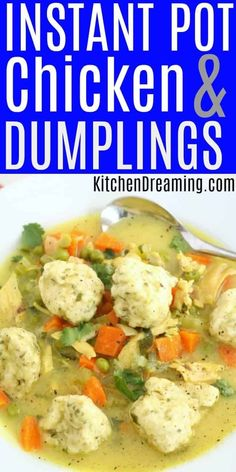 This scratch-made Instant Pot Chicken and Dumplings is ready in just 30-minutes! This quick-cooking comfort food classic is scratch-made and EASY to make! #Instant Pot Chicken and Dumplings #Instant Pot Chicken Recipes # Instant Pot Chicken #EASY instant pot chicken and dumplings #instant pot chicken and dumplings from scratch.