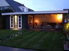 Tuinhuis Blokhut Modernvarioflex MJ 28 300x300+500x300dd Luka
