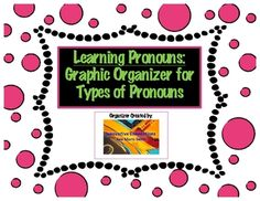 Use this handy printable for students to use in studying types of pronouns, definitions, and examples.