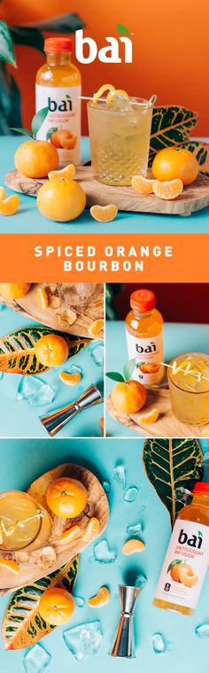 Get flavor, spice, and everything nice with this Spiced Orange Bourbon featuring Bai Costa Rica Clementine. With only 1 gram of sugar and no artificial sweeteners, Bai adds guilt-free flavor to any recipe.   Please drink responsibly. Must be 21+.