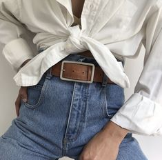 "5544e5b8 Na Nin Vintage on Instagram: ""So many favorites online - shop 25% off  sitewide now through midnight Tuesday 🌹"". White button up blouse + high  waisted jeans ..."