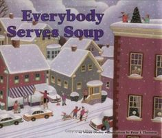 It's the week before winter vacation, and it has snowed so much that Carrie has the day off from school. She wants to earn money shoveling so she can buy her mother a Christmas present. But what? As she goes from house to house, Carrie finds that everybody is making soup. Carrie's neighbors come from many places so each one is making a different kind of soup, from southern corn chowder to Japanese miso shiru. And as she collects recipes, Carrie begins to get an idea of what to give her mother. Kinds Of Soup, Different Kinds, Corn Chowder, Christmas Presents, Childrens Books, Holiday Decor, Carrie, Earn Money, Shoveling Snow