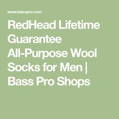 RedHead Lifetime Guarantee All-Purpose Wool Socks for Men | Bass Pro Shops