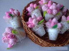 DIY Baby Shower Gifts for Girls on a Budget – Sock Bouquet – Baby Shower Ideas for Girls – Grandcrafter – DIY Christmas Ideas ♥ Homes Decoration Ideas Felt Flowers, Diy Flowers, Fabric Flowers, Paper Flowers, Flower Pots, Felt Crafts, Diy And Crafts, Gifts For Girls, Diy Gifts