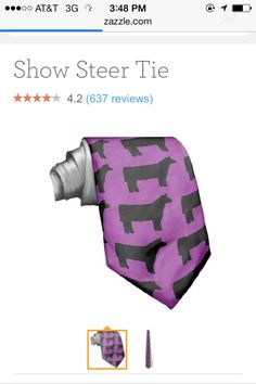 Show cattle tie!! What will they thank of next.
