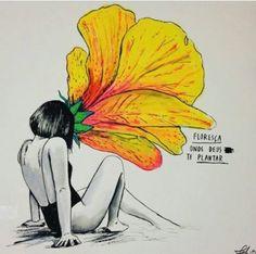 <p></p><p>Floresça onde Deus te plantar.</p>