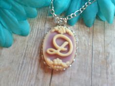 Monogram Letter Necklace D Necklace Gift by SundanceMountains