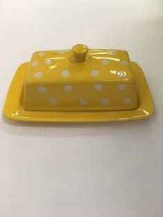 Yellow Ceramic Butter Dish – URBAN MAX LLC