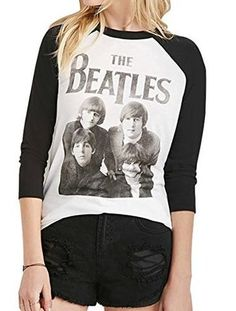 The Beatles Long Sleeve Crew Neck T Shirt