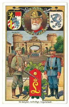 Great War Bavarian postcard.