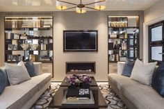 Reception Waiting Area - too busy, needs to be more simple but love the modern, chic yet simple design - S.N.
